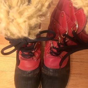 Cute red Sorel winter boots!